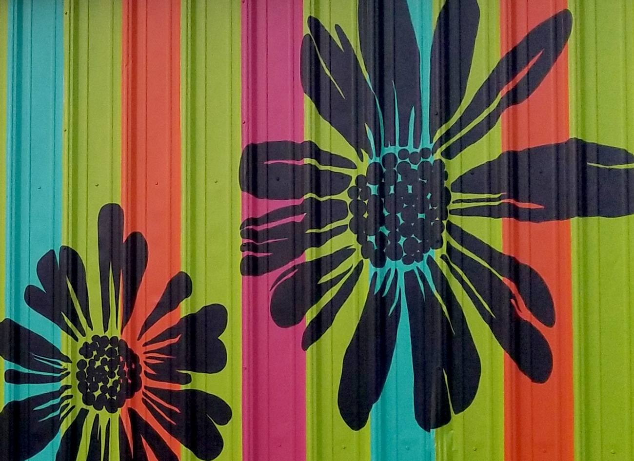 You are currently viewing Mural In Progress | House of Flowers, Shawnee