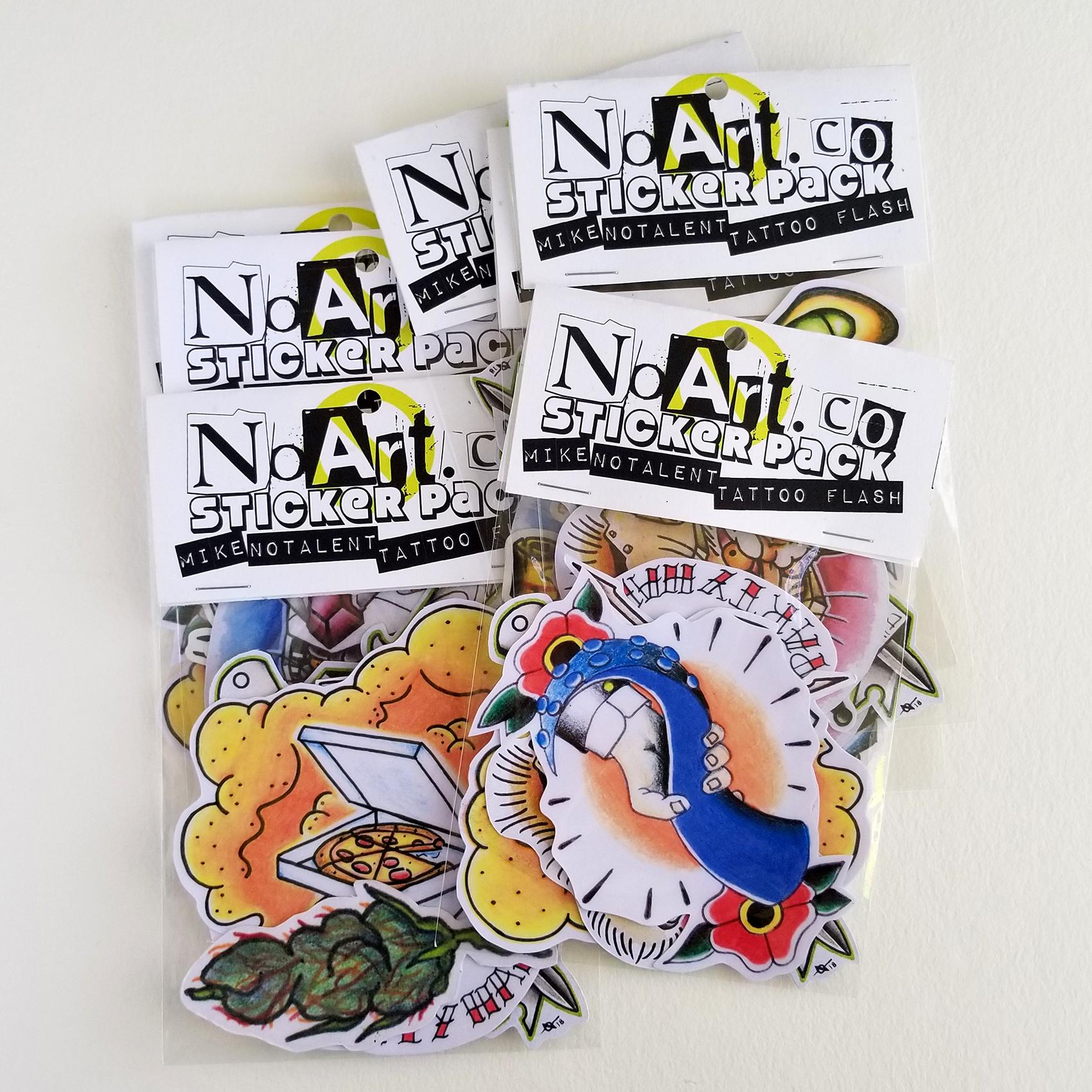 NEW! Sticker Packs! NoArt NoTalent NoFun – Robots – Tattoo Flash ...